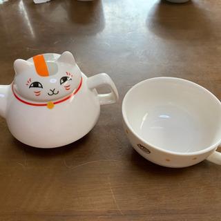 【ネット決済】にゃんこ先生 急須とカップ