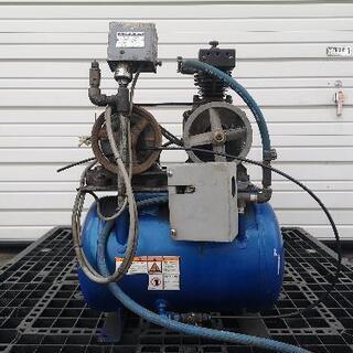 【お話中】iwata コンプレッサー 200V  46ℓ ジャンク扱い