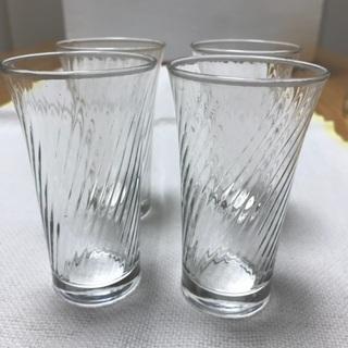 215、小さいガラスコップ4個セット、ビール用・食前酒用 - 岡山市