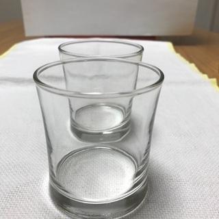 216、小グラス2個セット  ウイスキー用、ストレート用 - 岡山市