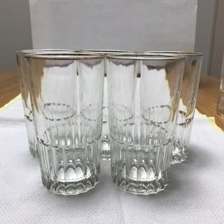217、グラス5セット カットグラス