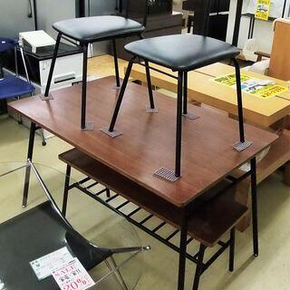 ダイニング4点セット テーブル イス2客 長椅子1客 宮崎 都城