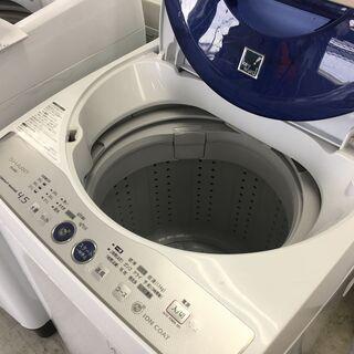 シャープ4.5K洗濯機Ag+イオンコート 2014年製 分…