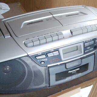 panasonic CDラジカセ(カセットダブル)RX-DT36