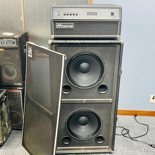 ●廃盤名機ampeg315hアンプと215eキャビネットのスタッ...