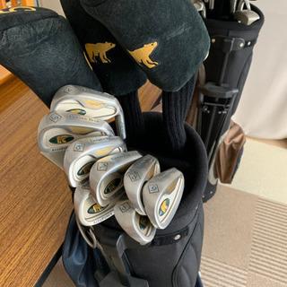 【ネット決済・配送可】ゴールデンベアの男女ゴルフフルセット、ボール付き