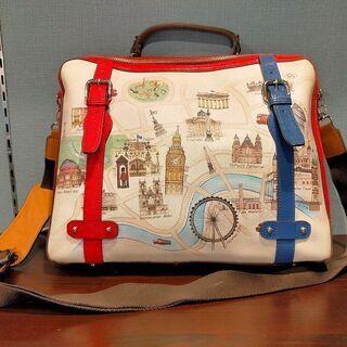 【韓国ブランド Sonoviのバッグ】LONDONの地図柄…