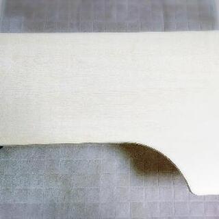 アイボリー 白木 折りたたみテーブル - 所沢市