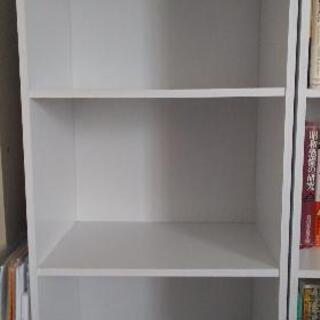 本棚(白)カラーボックス(2個または1個)