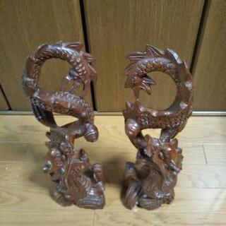 木彫りの竜 置き物