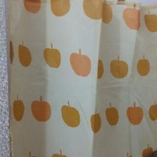 【ネット決済】イチゴ柄ナシ柄カフェカーテン
