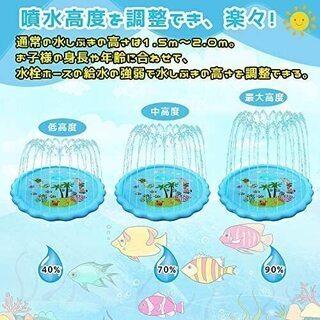 新品  噴水マット 噴水 おもちゃ プレイマット 直径170cm...