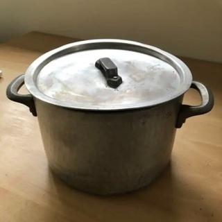 【ネット決済】アルミ 業務用 鍋 蓋付き