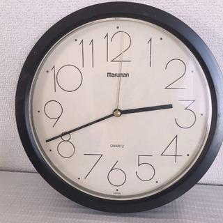 マルマン QUARTZ 掛け時計 日本製動作確認品 番号B…