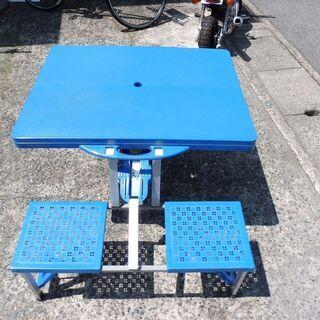 折りたたみピクニックテーブル・チェア4人用 中古 - 境港市