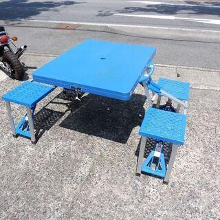 折りたたみピクニックテーブル・チェア4人用 中古の画像
