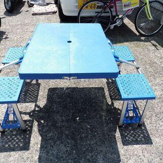 折りたたみピクニックテーブル・チェア4人用 中古 - 家具