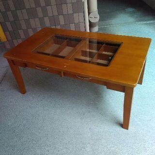 収納付き テーブル