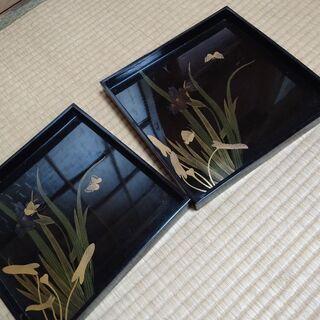 塗りのお盆(2枚セット)