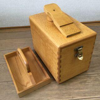 木製シューケアーボックス