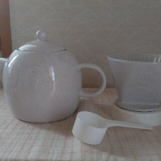 【取り引き決まりました】ドリップセット【陶器製】