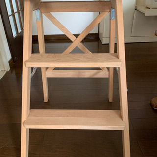 値下げ 美品 折り畳み木製脚立