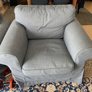 【ネット決済・配送可】IKEA - EKTORP  一人用ソファ2脚