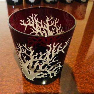 新品未使用 ワインレッドグラス6個