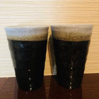 新品未使用 陶器グラス 2個