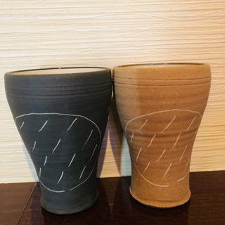 新品未使用 陶器ペアグラス 2個
