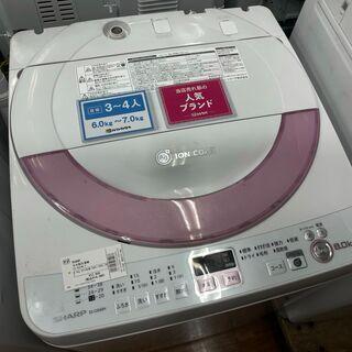 シャープ 全自動洗濯機 ES-GE60N 6.0㎏ 201…