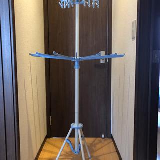 【ネット決済】組立式スタンド物干しパラソル型2段