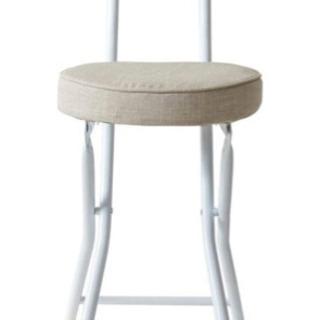 【新品】アイリスプラザ チェア 椅子 折りたたみ ベージュ 幅約...