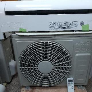 日立6畳エアコン洗浄済み2017年