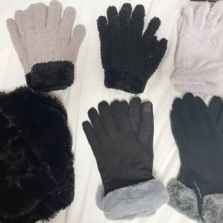 手袋5点とスヌード スマホ対応手袋あり