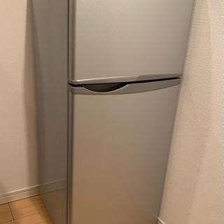 [無料]シャープ118L冷蔵・冷凍庫 SJ-H12W-S