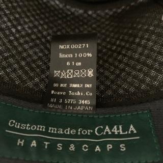 【美品】CA4LA (カシラ) KNOX (ノックス)ギンガムチェックハット帽子 − 東京都