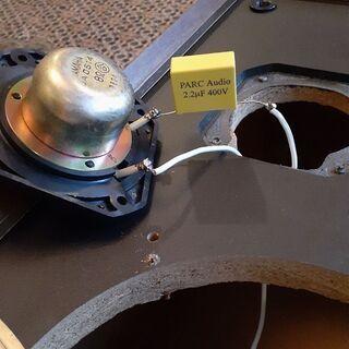 スピーカーエンクロージャー コンデンサー替えてあります。 - 家電