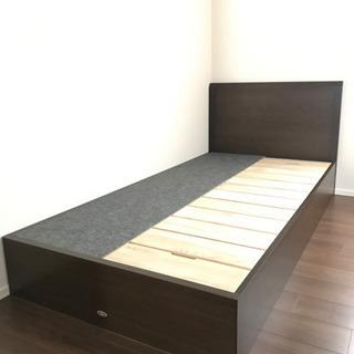 【27日まで限定半額値下げ】シモンズ シングルベッド 収納付
