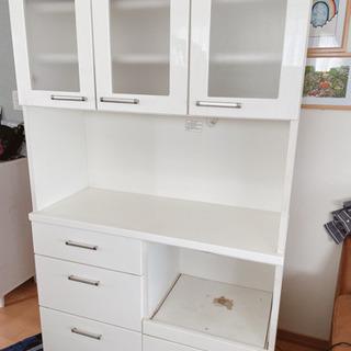 【ネット決済】使用感有。シンプル食器棚⭐︎