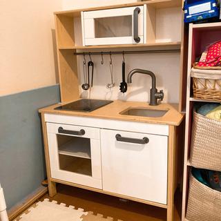 IKEA おままごとキッチン上下+料理