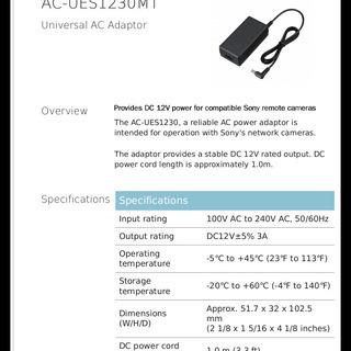 【ネット決済・配送可】SONY AC Adapter AC-UE...