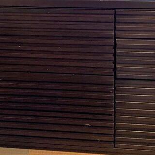 キャビネット チェスト 木製 横120 縦86 奥行4 3