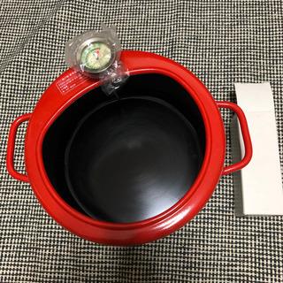 未使用 天ぷら鍋 温度計付き