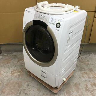 ジャンク シャープ ドラム式洗濯機 7kg ES-S70-…