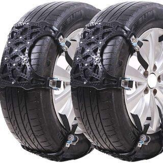 ジャッキアップ不要のタイヤチェーン 冬の必需品 タイヤの滑り止め...