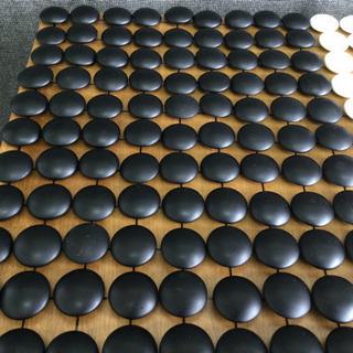 中古 碁石 黒 183個 白 178個 厚み0.82 から1.08  (cm) 硬質ガラス製 碁笥 木製 - おもちゃ