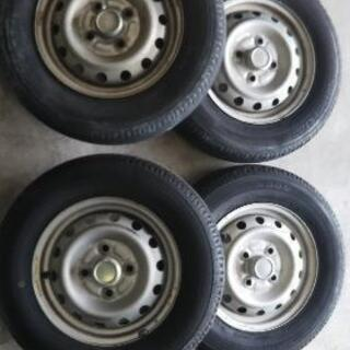 145/12 6PR三菱純正鉄ホイールタイヤセット