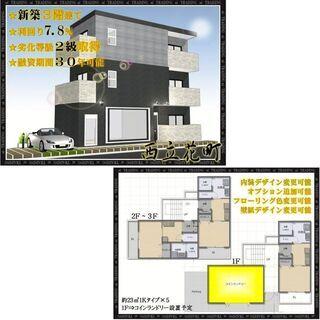 ◆新築一棟◆融資期間30年可◆立花駅徒歩10分◆橘通沿い◆表面利...