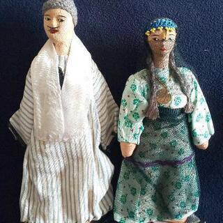 エジプトの民芸品 人形2体の画像